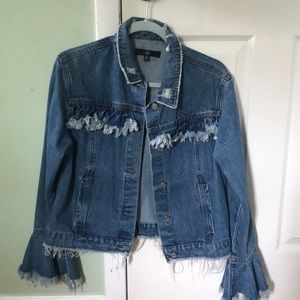 Misguided Oversized Flare Jean Jacket